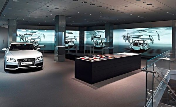 DNP Audi dealership lets you gesticulate your way to a new car using Kinect and multitouch