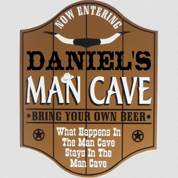 Timber Man Cave Signs : Personalized wood man cave sign signs and men