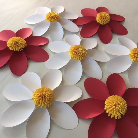 Paper flower DAISY set of 7 /Paper flower by SydneyPaperFlowers
