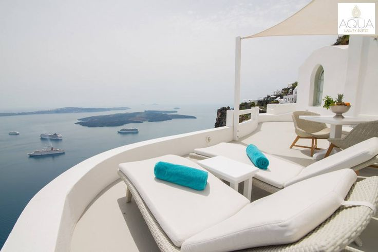 Well, this is definitely a view to look forward to from your private terrace! More at aquasuites.gr