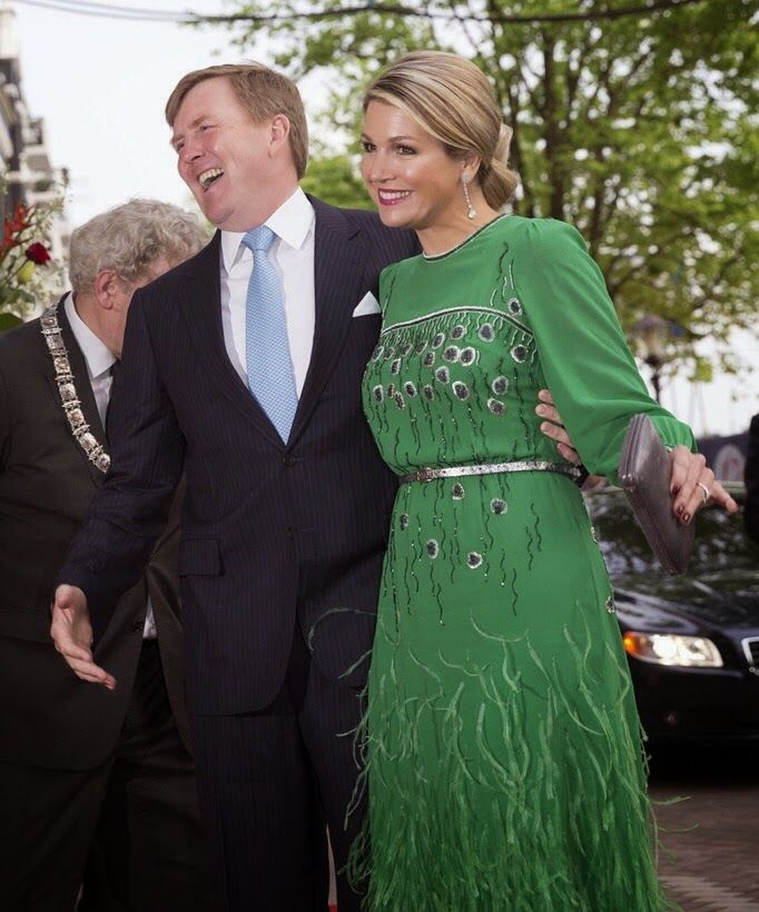 05 May 2014 King Willem-Alexander, Queen Maxima and Princess Beatrice attended the Freedom Concert in Amsterdam
