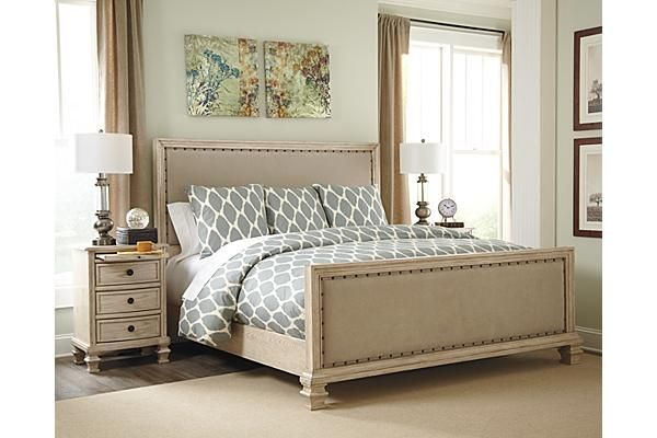Best The Demarlos Upholstered Panel Bed From Ashley Furniture 400 x 300