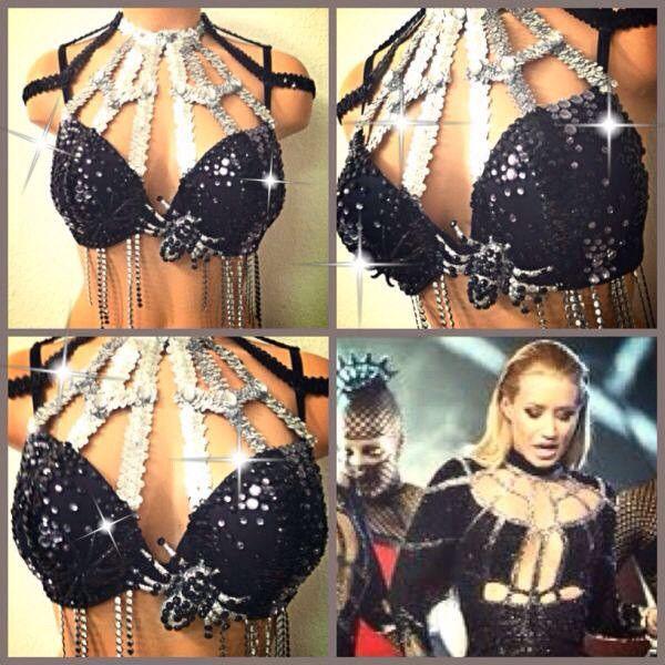 Black Widow Iggy Azalea Rave Bra ($65) ❤ liked on Polyvore featuring intimates, bras, rave and push up bra