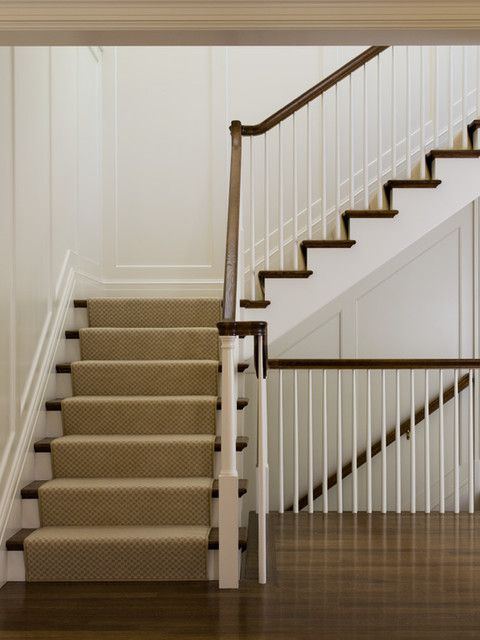 Tapered Round Spindles Modest Sized Newel Post Square