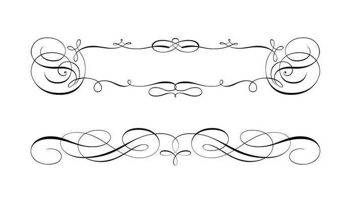 Free Swirly Scroll Frame And Border Vectors Vector Art Design Clip Art Borders Vector Free
