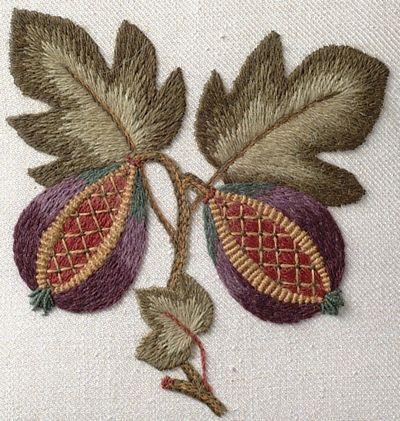 Sue Hawkins - jacobean embroidery workshop, Bath 2015