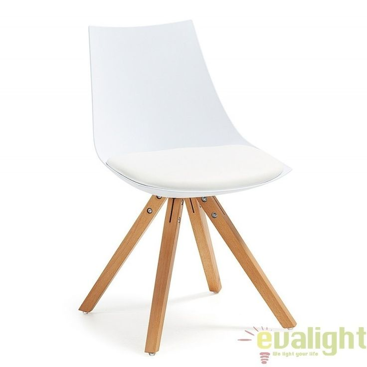 Scaun ARMONY alb C601S05 JG, Scaune dining , Corpuri de iluminat, lustre, aplice, veioze, lampadare, plafoniere. Mobilier si decoratiuni, oglinzi, scaune, fotolii. Oferte speciale iluminat interior si exterior. Livram in toata tara.  a