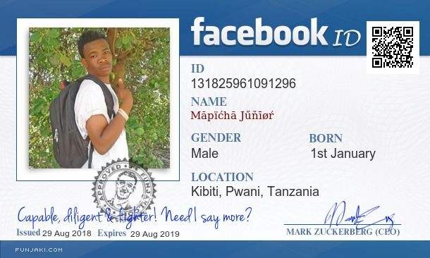 Facebook Id Card Generator Funjaki Com With Images