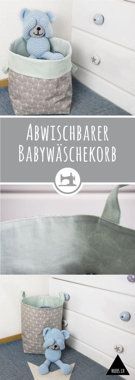 Abwischbarer Babywäschekorb - gratis DIY Anleitung & Schnittmuster
