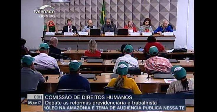 AO VIVO AGORA: Intersindical no Senado sobre as Reformas da Previdência e trabalhista e os impactos na área rural