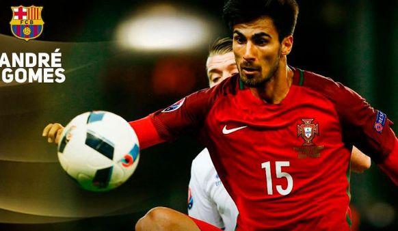 optimnews sport   André Gomes Finalemente pemain asal portugal tersebut menjadi bidikan Barcelon...