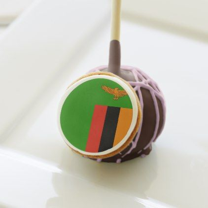 Zambia Flag Cake Pops  $39.00  by Loveworldflag  - cyo customize personalize diy idea
