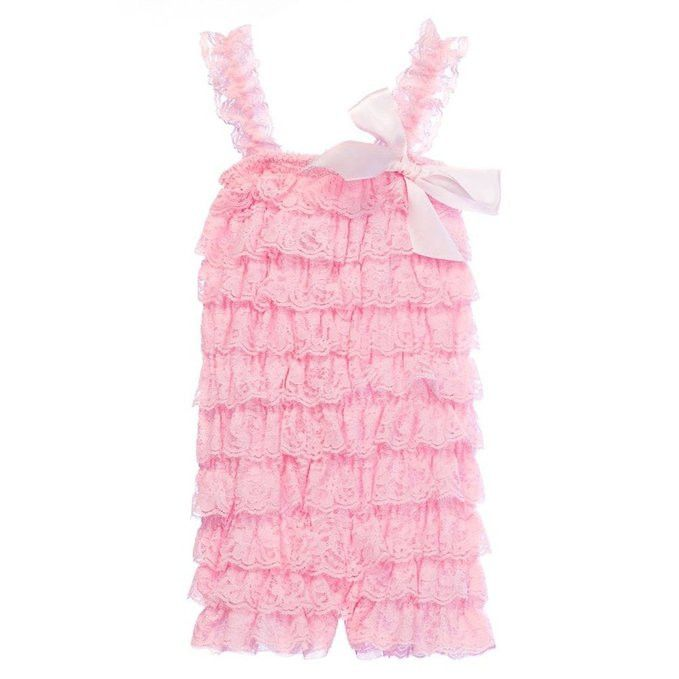 Boho Baby Girl Lace Ruffle Rompers in 6 Colors