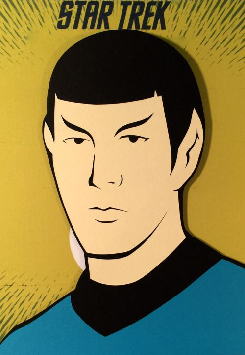 Star Trek The Animated Series: Spock Paper Cut-Out - DocGold13