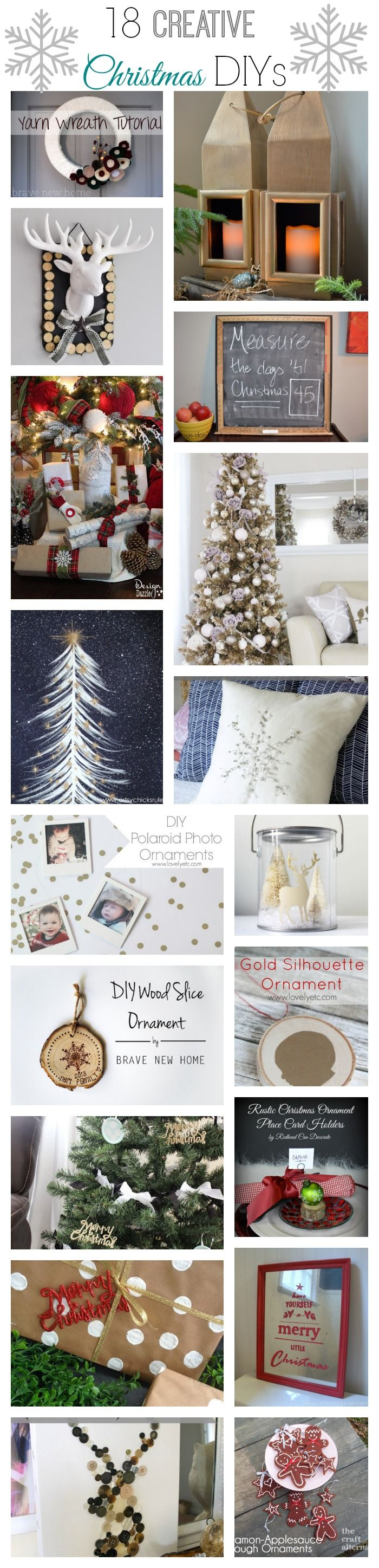 18 creative and modern takes on traditional Christmas decor!