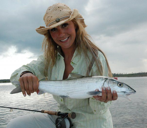 Fly Fishing Guide April Vokey with a nlce Bonefish