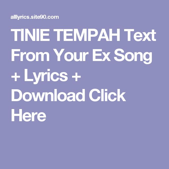 TINIE TEMPAH Text From Your Ex Song + Lyrics + Download  Click Here