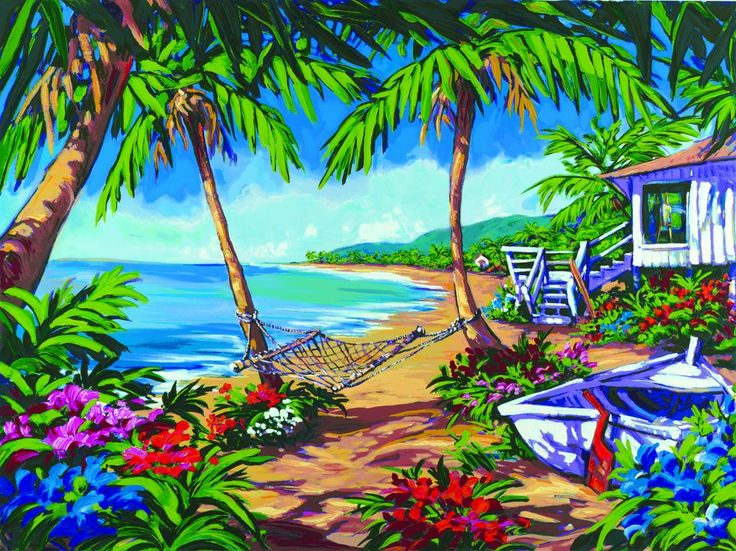 Caribbean Oil On Canvas Painting