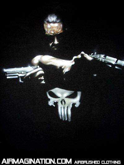 punisher | Airbrush Punisher shirt | Custom Frank Castle Movie T-shirt