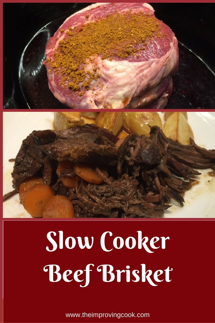 The Improving Cook- Slow cooker Beef Brisket. Slow cooked beef that melts in your mouth.