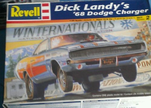 Revell Dick Landy's 68 Dodge Charger box art