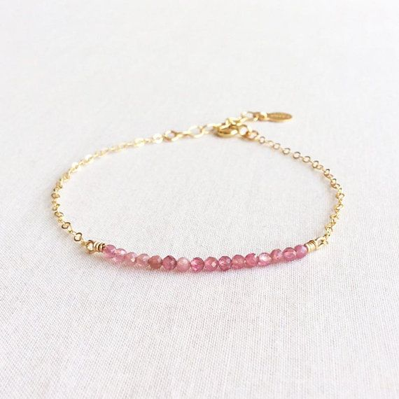 Made to order Jewelry Pink Watermelon Tourmaline choker necklace bracelet anklet Semi-precious Gemstone jewelry
