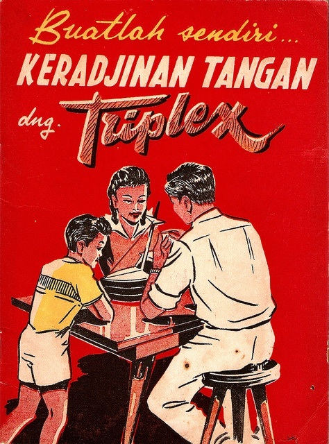 Indonesian vintage craft book.