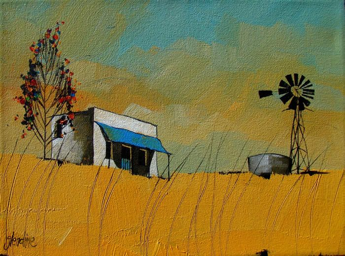Love the colours. Perhaps the Australian outback.