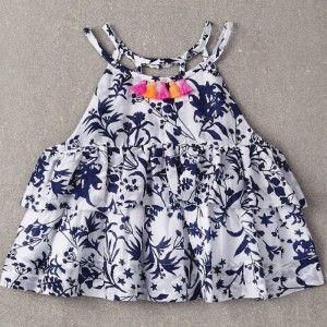nellystella rommi blouse – floral motif