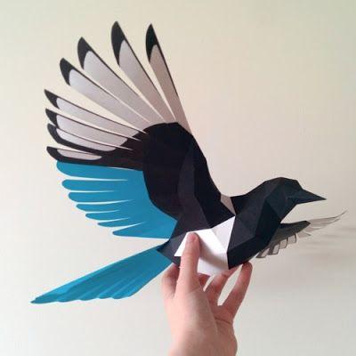 Flying Bird Paper Model Tektonten Papercraft Paper
