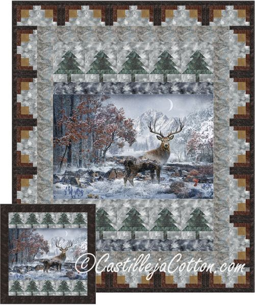 Mountain Stag Quilt Pattern Cjc 5137 Panel Quilts