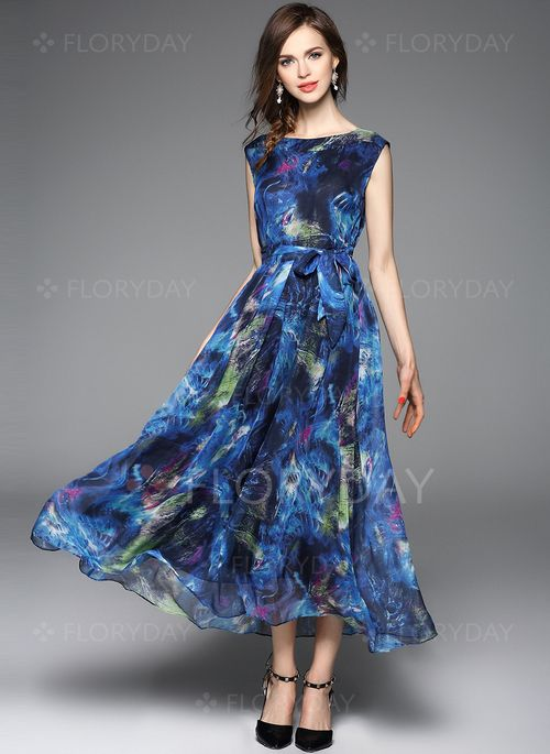 Dresses - $70.99 - Polyester Solid Cap Sleeve Mid-Calf Casual Dresses (1955119261)