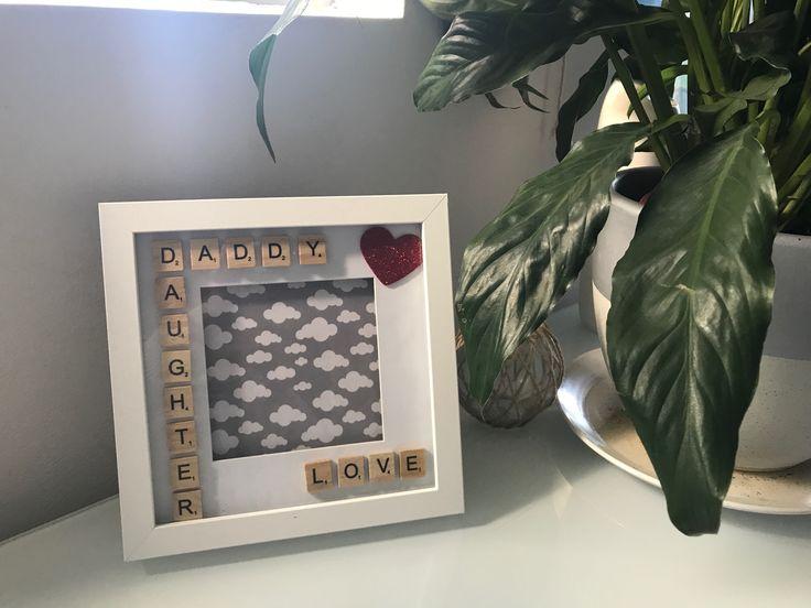 Daddy Daughter Love Scrabble Frame - Homemade - Keepsake