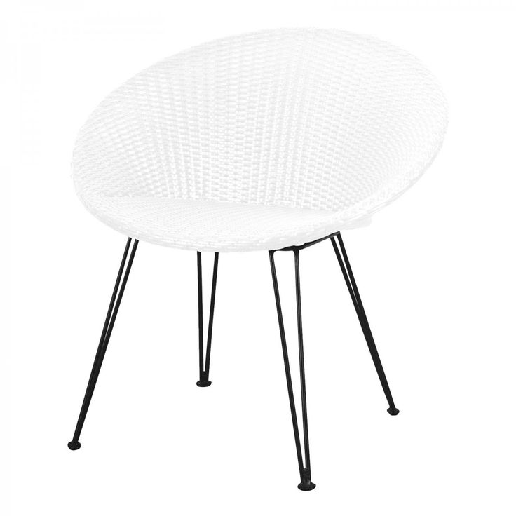 The Family Love Tree - Poly Rattan Patio Chair (White) - Modern Lounge Chairs For Your Outdoor Online or In Store!
