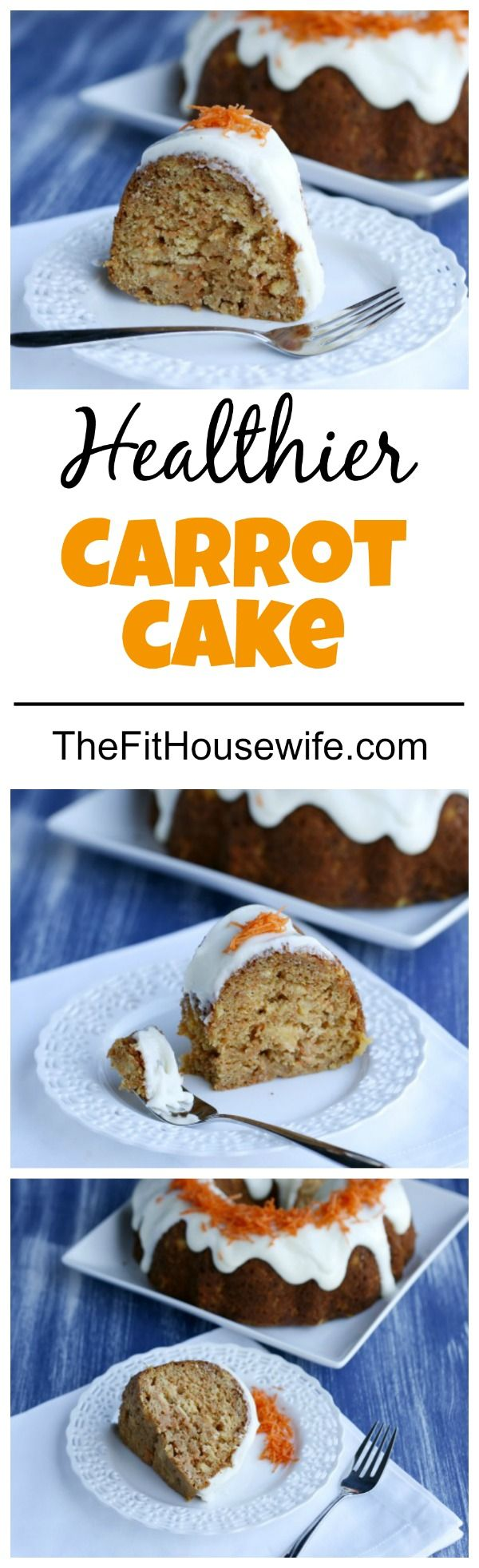 Healthy Carrot Cake. A delicious and healthier version of the classic carrot cake!