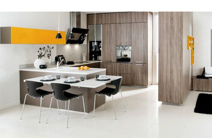 cuisine arcos de la marque schmidt avec cloison mi hauteur faisant bar cuisine avec bar. Black Bedroom Furniture Sets. Home Design Ideas