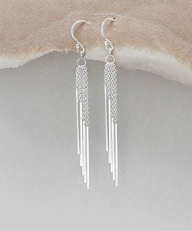 Look at this #zulilyfind! Sterling Silver Cascading-Bar Drop Earrings #zulilyfinds