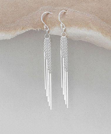 Look at this #zulilyfind! Sterling Silver Cascading-Bar Drop Earrings #zulilyfinds