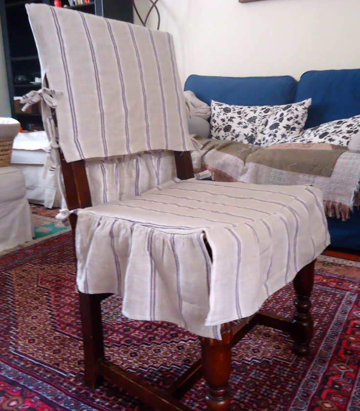 My DIY Shabby Chic Slip Covers For Husbands Too Manly Dining Room Chairs