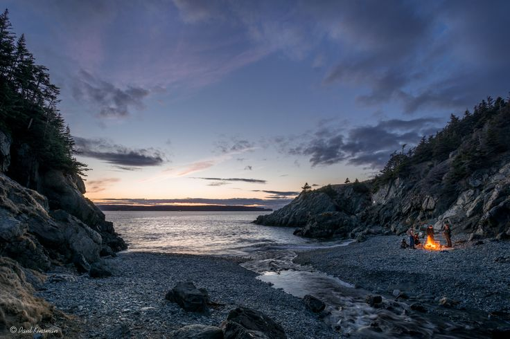 Twilight in Beachy Cove, Conception Bay, Newfoundland