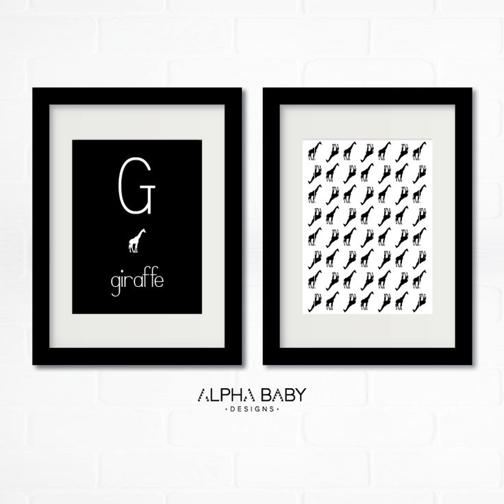 G for Giraffe // Print, Frame and hang! Check out the whole collection from A-Z!