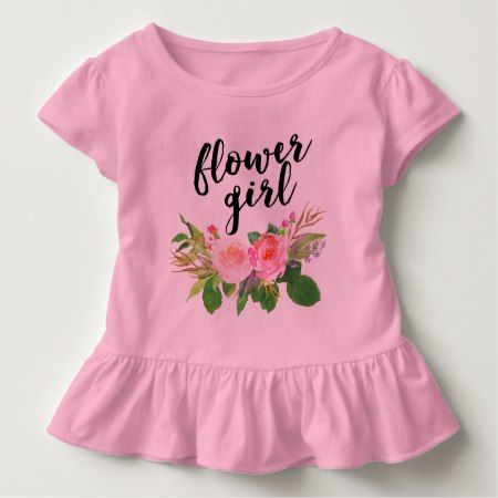 flower girl watercolor floral toddler t-shirt - tap to personalize and get yours