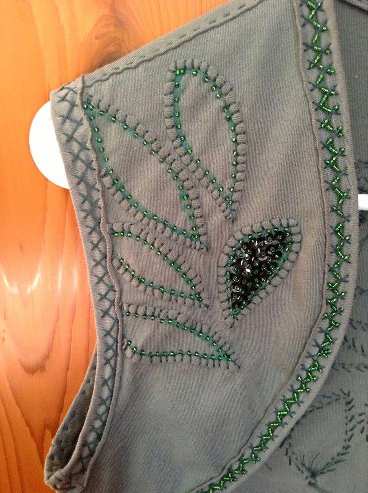 alabama chanin bolero pattern - .....repinned  by  Maurie Daboux¸.•*❤