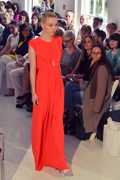 Carla Zampatti Spring/Summer 2012/13 collection. evening dress gown orange tangerine