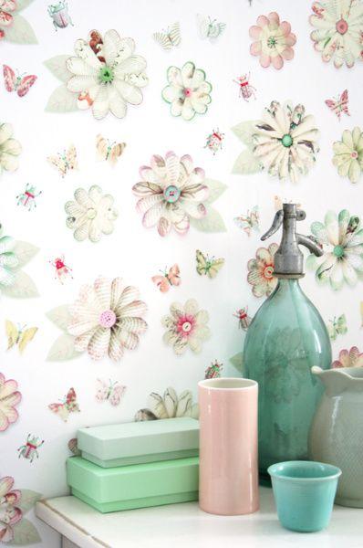 Bloemen behang | Producten | Studio ditte