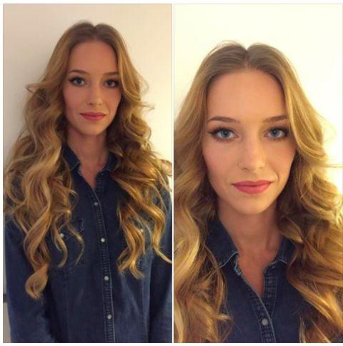 Sombre hair, makijaż, makeup