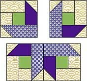 A nice star block with stitch and flip pieces. Might work for Starry Night BOMS