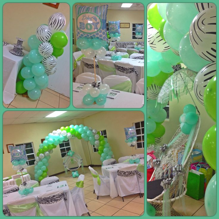 zebra print u0026 mint green baby shower decoru0027
