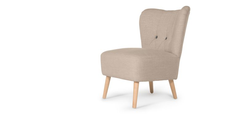 Charley Accent Chair, Biscuit Beige