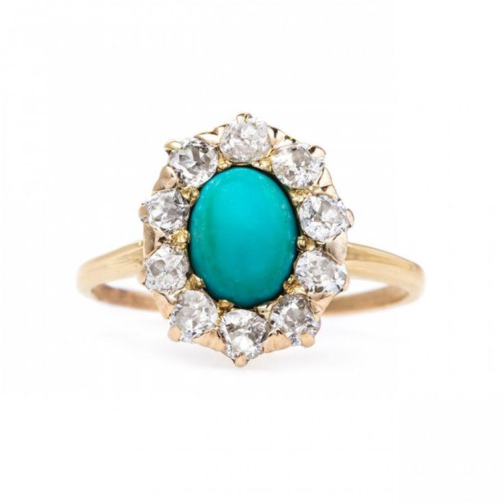 23 Best Turquoise Diamond Ring Images On Pinterest Turquoise